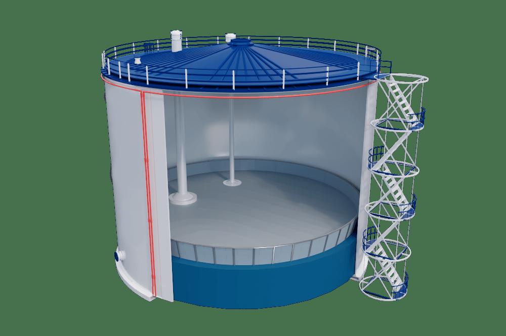 Вертикальные стальные резервуары с понтоном